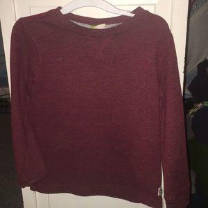 Plain burgundy thermal 4T